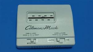 Coleman Mach White Manual Wall Thermostat Single Stage