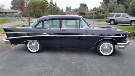 1957 Chevy 210 Classic Car V8 Engine Black 4 Door