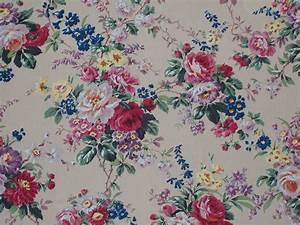 Antique Fabrics Floral : Reproduction Vintage Fabric ...