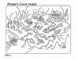 Pirate Maze Printable Mazes Treasure Map Birthday Crafts Maps Printables Coloring Cove Pirates Puzzles Week Printablee Familyfun Disney sketch template