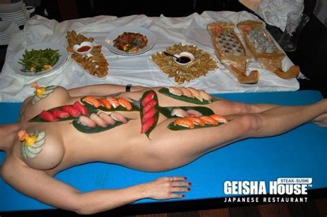 Geisha House Las Vegas Naked Sushi Served On A Women S Body Food Porn Pinterest Nice We