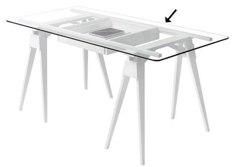 plateau verre pour bureau arco 150 x 75 cm plateau