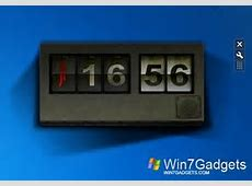 Flipped Clock Windows 7 Gadgets
