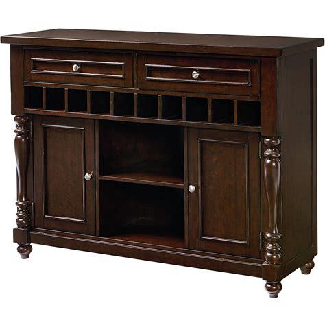 Wine Sideboard Furniture by Standard Furniture Mcgregor 17722 Buffet With 10 Bottle
