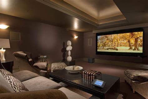 Teen Media Room With Midcentury Modern Living Room