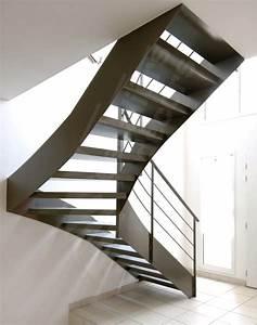 Escalier 1 4 Tournant Droit : 1000 images about un escalier en acier et b ton laissez monter le silence on pinterest ~ Dallasstarsshop.com Idées de Décoration