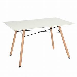 Table Cuisine Scandinave : table manger scandinave table de cuisine carree blanc mat 120cm bois r tro ~ Melissatoandfro.com Idées de Décoration