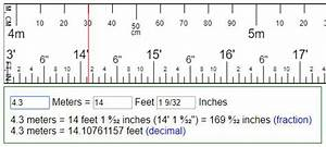 Convert meters to feet & inches or reversion (ft & in = m ?)