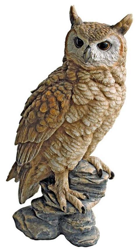 owl garden statue perching forest owl statue contemporary decorative