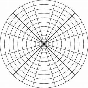 Polar Grid In Degrees With Radius 10