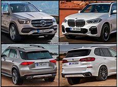 Photo Comparison 2019 Mercedes GLE vs 2019 BMW X5 G05