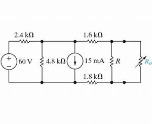 Solved the variable resistor in the circuit in figure 1 for In fig 1 power is transferred to a variable resistor of resistance r