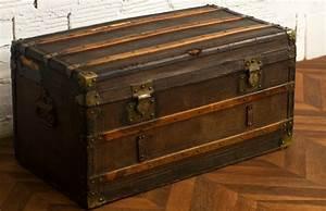 Malle En Bois : coffre malle valise voyage diligence ancienne r tro ~ Melissatoandfro.com Idées de Décoration