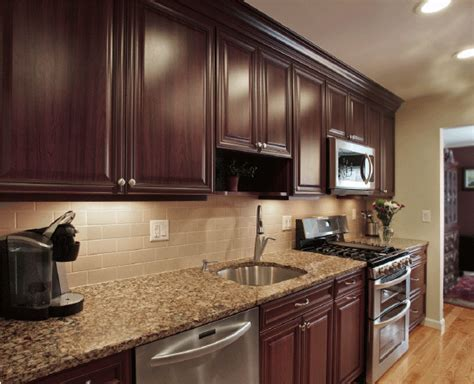 granite countertop colors with cabinets images