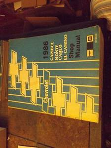 Purchase 1986 Chevrolet Auto Repair Shop Manual  Caprice