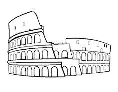draw  colosseum step  step famous places