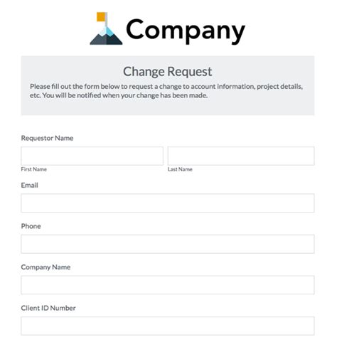 work schedule change request form template printable