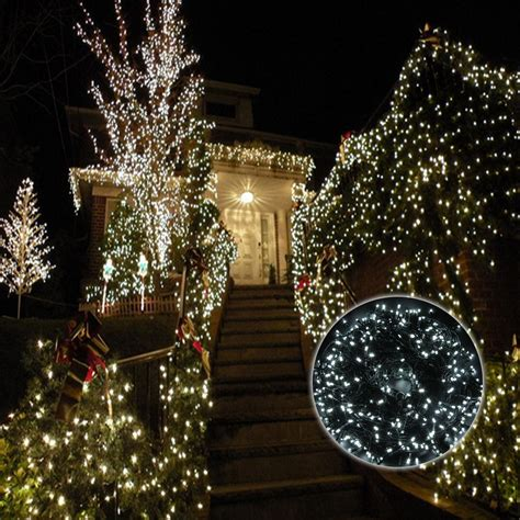 correct way to string lights on christmas tree 100m 500 led cool white christmas wedding party outdoor