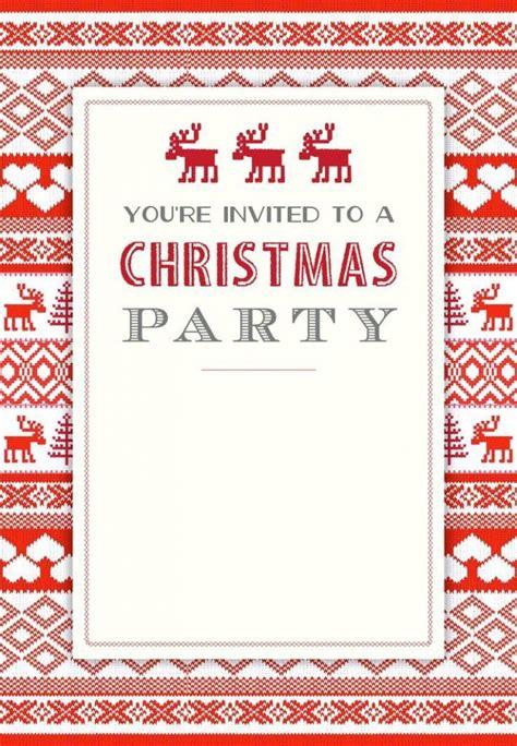 printable christmas invitation template