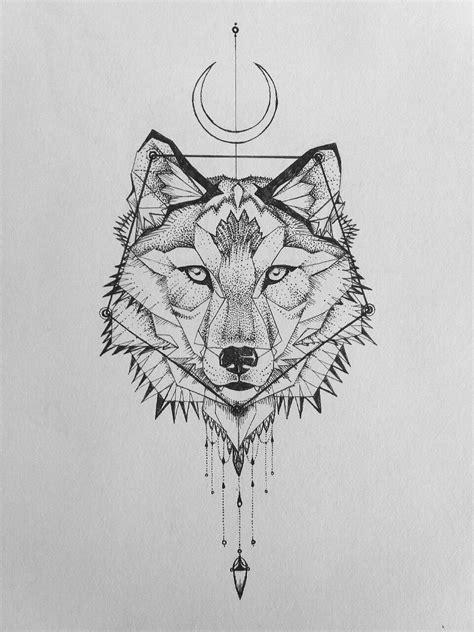 geometric wolf tattoo animal tattoos tatouage tatouage loup loup geometrique