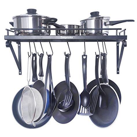 kitchen hooks for pots and pans zesproka kitchen wall pot pan rack with 10 hooks black