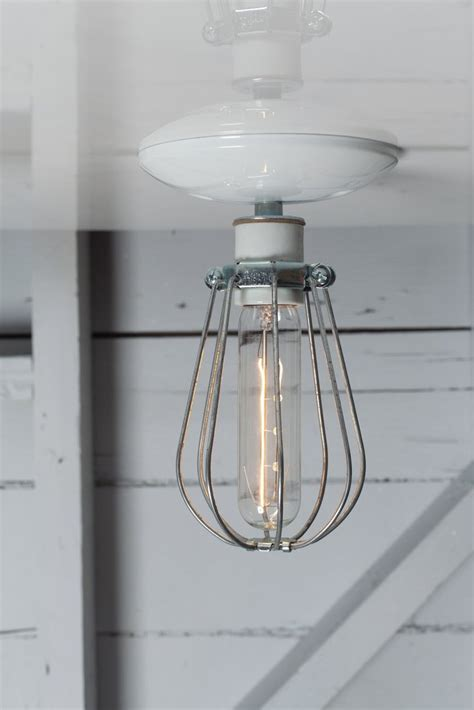 cage ceiling light industrial modern lighting wire cage light ceiling