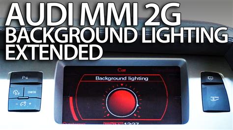 enable extended ambient interior lighting audi mmi