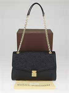 louis vuitton black monogram empreinte leather st germain