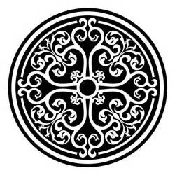 Round Medallion Stencil