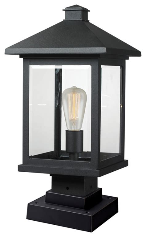 1 light outdoor pier mount light traditional post