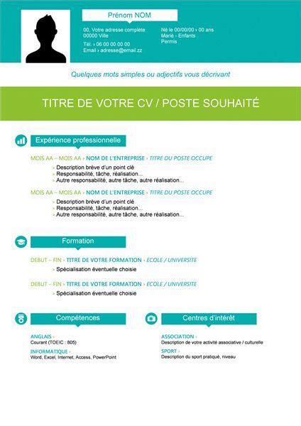 Word Modele by Exemple Word Cv Cv Model En Francais Word Moto Bip