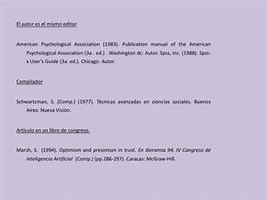 T U00e9cnicas Referenciales Bibliogr U00e1ficas En Libros