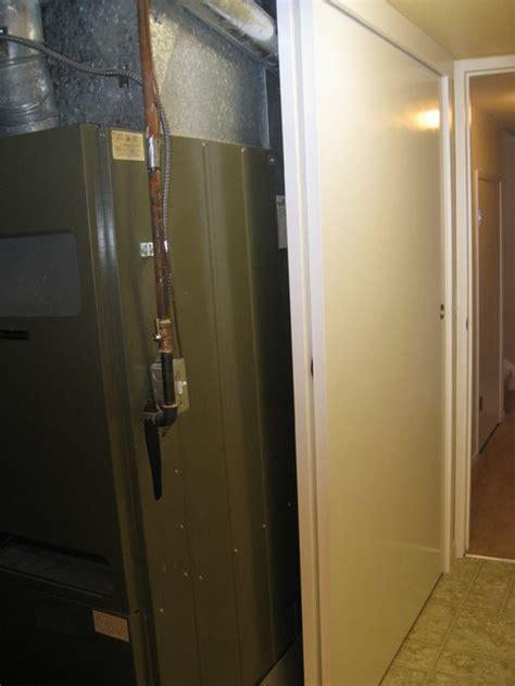 mechanical closet with bypass doors