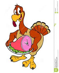 thanksgiving turkey with ham stock image image 26622561