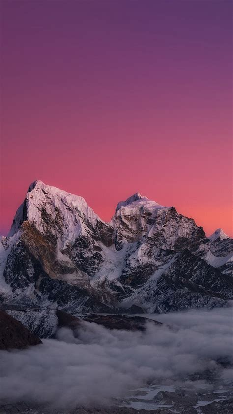 Black Wallpaper Iphone Mountain by Himalaya Sunset Mountain High Quality Htc One Wallpapers