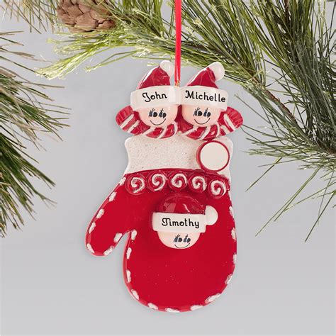 personalized family mitten holiday ornament giftsforyounow