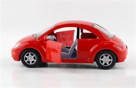 red yellow green  scale diecast vw  beetle toy