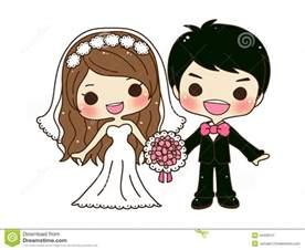 Cute Cartoon Wedding Couple