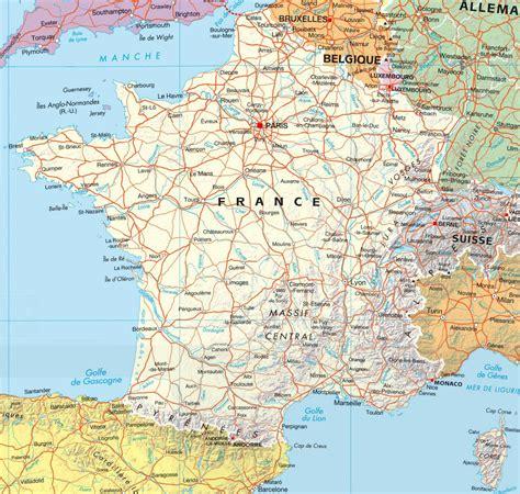 Carte De Avec Principales Villes A Imprimer by Carte Des Villes De