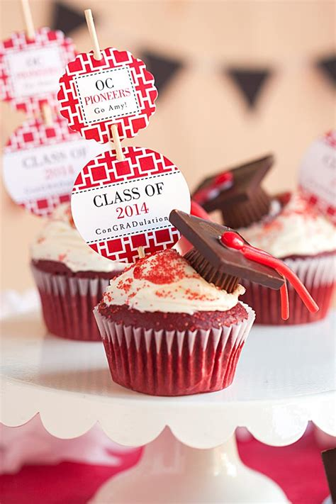 Graduation Idea: Cupcake Toppers   Evermine Occasions