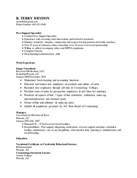 Peer Support Specialist Resume