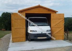 Garage En Bois 20m2 : kit garage bois 22 m au sol en madriers embo t s de 44 mm ~ Dailycaller-alerts.com Idées de Décoration