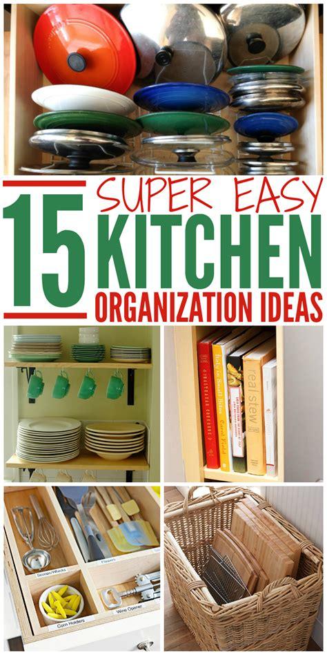 15 Super Easy Kitchen Organization Ideas