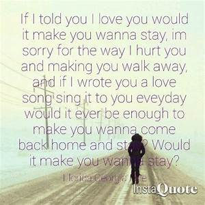 Stay Florida Georgia line quote lyrics love song country ...