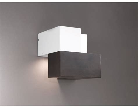 applique moderno lada in stile moderno led mod cubic wood applique