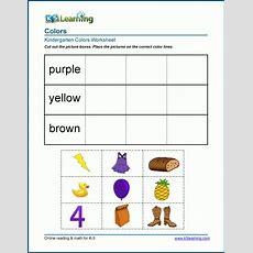 Sorting By Color Worksheets For Kindergarten Students  K5 Learning