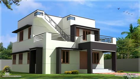 contemporary home design plans modern house design in 1700 sq kerala home design