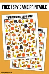 Printable I Spy Thanksgiving