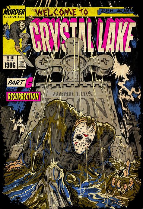 artist  turning horror movies  faux comic book