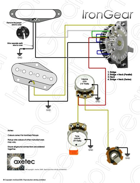 Rotary Switch Wiring Diagram Telecaster by Guitar Parts From Axetec 3 4 Position Lever Switches